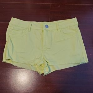 H&M neon green mid rise shorts US 4